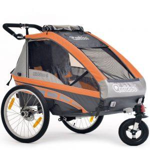 Qeridoo Q9000S kidgoo-2Remorque Enfant pour vélo (2sièges)