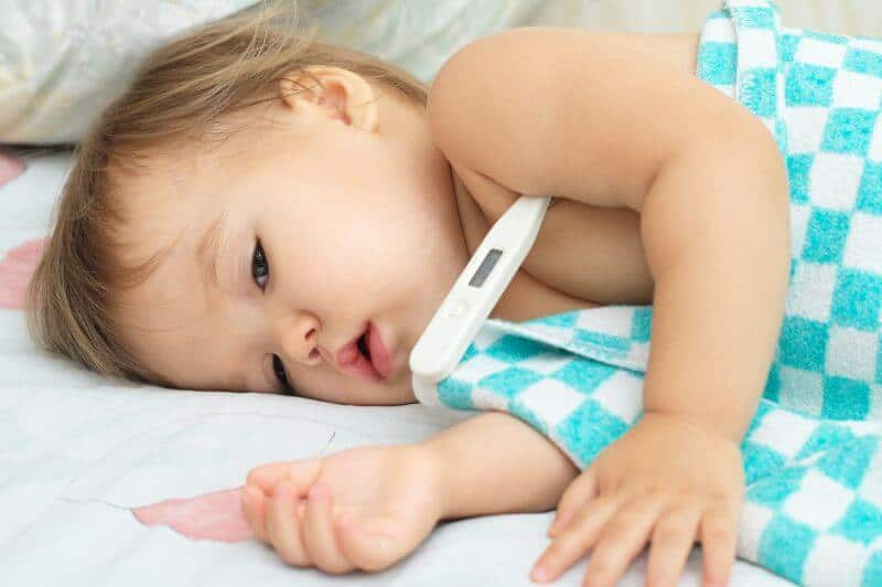 bebe malade fievre