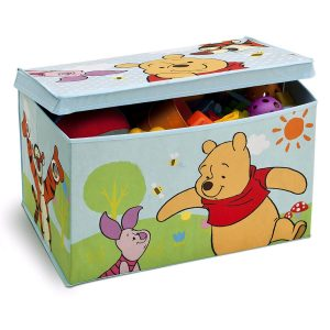 Delta Children - TB84987WP - Winnie l'Ourson - Coffre à Jouets en Tissu